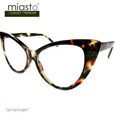 NWT$39.99 MIASTO BIG CAT EYE LARGE READER READING GLASSES+1.75 TORTOISE (FLEX)