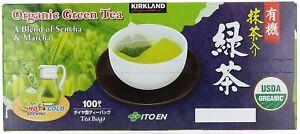 Kirkland Signature Ito En Matcha Blend 100% Organic Japanese Green Tea 100 bags.