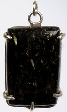 Rare NUUMMITE pendant polished crystal cabochon Sterling Silver #5352P