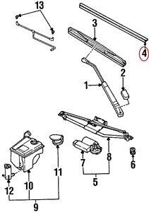 ( 1 ) GENUINE GM SATURN 21059149 Front Wiper Blade Refill Set ( 2 Inserts)