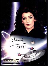 Marina Sirtis Star Trek Autogrammkarte Original Signiert  +G 17379