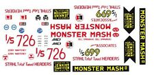 Bill Jenkins Monster Mash II Chevy '55 1/18th Scale Waterslide Decals