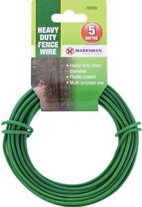Garden Wire Multi Purpose Thick Green Heavy Duty 3mm x 5m