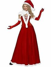 Luxury Miss Santa Christmas Adult Womens Smiffys Fancy Dress Costume - UK 8-10