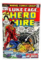 #10 LUKE CAGE, HERO for HIRE 1970s Marvel Comic Book-  Fine (LC-10)