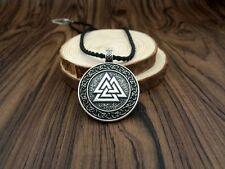 Odin 's Symbol Vikings Valknut collier pendentif Valknut Triple Axe Double Face