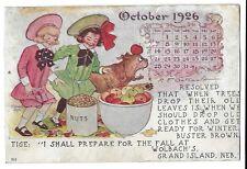 1906 Calendar Postcard ~ BUSTER BROWN & TIGE ~ Wolbach's, Grand Island, Nebraska