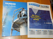 1993 BULLETIN journal gazette SANDOZ suisse BASEL Pharmacie MEDICAL newspaper