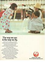 1979 Original Advertising' Jal Japan Air Lines The Way We Are Is Fly