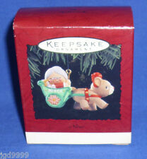 Hallmark Christmas Ornament Niece 1994 Mrs. Claus in Cart with Reindeer NIB