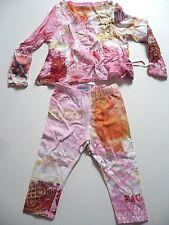 Ensemble KENZO Junior 2 ans haut / blouse + son legging imprimé coloré fille