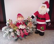 SANTA'S ELF CHRISTMAS SWEETS GINGERBREAD WAGON TABLE ARRANGEMENT ~LAST ONE~