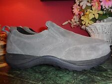 MENS L.L. BEAN gray suede loafers 7M in very good condition