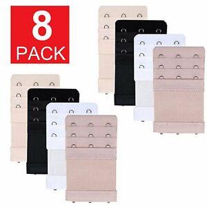 Set Of 8 Bra Extender 3 Hooks with Elastic 3 Rows