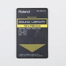 Roland SN-R8-04 Eléctrico Sonido Biblioteca Sonido Datos ROM R-8/R-8M