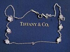"Tiffany & Co Platinum Elsa Peretti Diamond By The Yard Necklace 1.50Ct 16"" PT950"