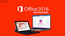 Microsoft Office 2016 For Mac/Windows up to 5 devices+365 free!Bargain!