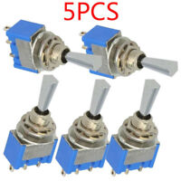 5/10/20Pcs 6P Toggle Switch 6A 125VAC 6 Pin DPDT ON-OFF-ON Mini Toggle Switch