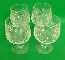 Cut Glass Crystal 4 brandy glasses - 12cm high - Stuart style | Thames Hospice