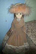"Collectable Victorian Doll Effanbee 1978,1578/ clothing plastic body 14"" Vhtf"