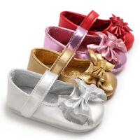 Toddler Baby Shoes Newborn Kid Girls Soft Soled Princess Crib Shoes Prewalker US