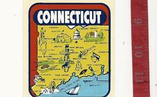 Vintage state water decal transfer Connecticut FREE SHIPPING
