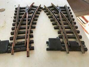 🚅  G SCALE LGB 1210 LEFT HAND & 1200 RIGHT SWITCH TRACKS- BRASS RAILS- 👍 G287