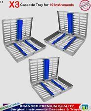 Traite de 3 dentaire 10 instruments Autoclave stérilisation cassettes plateaux Racks