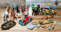 Vintage Playmobil Geobra 1974-97 Lot With Horses & Accessories