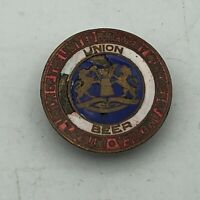 Rare Antique Brewery Workers Union Beer Screw Back Lapel Button Vintage    S3