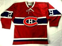 Ken Dryden Montreal Canadiens CCM Vintage Hockey Jersey Made in Canada Size 48