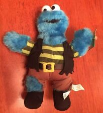 "Cookie Monster 10"" plush Doll Pirate Sesame Street Nanco Halloween Costume"