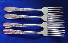 Vintage Tudor Plate Community BRIDAL WREATH lot 4 Dinner Forks