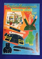 """1959 Whitman """"Captain Kangaroo"""" Treasue House Press out Book mint/unused  punch"""