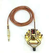 Custom Tattoo Foot Pedal Switch Polished Brass Copper One of a Kind Lights Color
