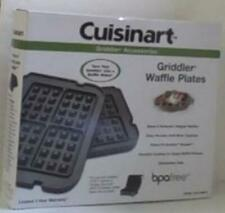 NEW OPEN BOX Cuisinart Griddler Waffle Plates,One Pair, Black - CGR-WAFPC