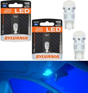 Sylvania ZEVO LED light 194 Blue 10000K Two Bulbs Step Door Replacement Factory