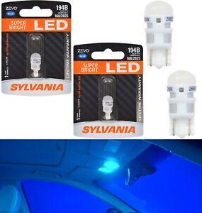 Sylvania ZEVO LED Light 194 Blue 10000K Two Bulbs Interior Dome Replacement OE
