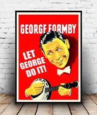 George Formby , Vintage  poster reproduction