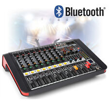 More details for pdm 8 channel flatbed powered mixer amplifier with bluetooth for bands pa church