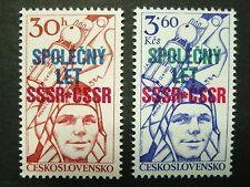 Czechoslovakia, Joint Space Flight, Soviet Yuri Gagarin, Scott 2159-60,  MNH
