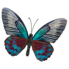 LARGE METAL COLOURFUL BUTTERFLY GARDEN DECORATION WALL ART 26cm x 35cm 270823