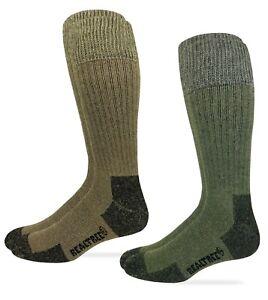 Realtree Mens Merino Blend Non Binding Comfort Top Tall Boot Socks 2 Pair Pack