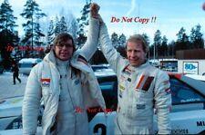 Hannu Mikkola Audi Quattro A1 Winner Swedish Rally 1983 Photograph 1