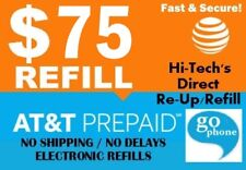 $75 At&T Prepaid & Go Phone Fastest Online Refill > 25yr Usa Trusted Dealer <