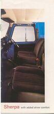 Austin Morris Leyland Sherpa Driver Comfort circa 1979 UK Sales Brochure No.3337