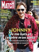 PARIS MATCH N°3551 8 JUIN 2017  HALLYDAY/ PESQUET/ ATTENTATS MANCHESTER-LONDRES/