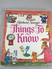 Richard Scarry's Things To Know Vintage 1971 Hardback Book