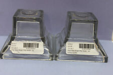 Lot of 2 Lazy Susan Clear Glass Knight Pillar Holders - lg - Candle - Base Only