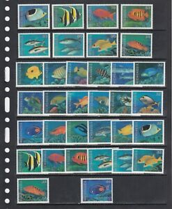 Tropical fish Sea Life 1995-96 Micronesia MNH 4 sets 34 v lot
